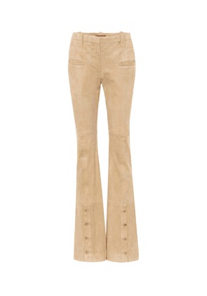 Ned high-rise suede flared pants