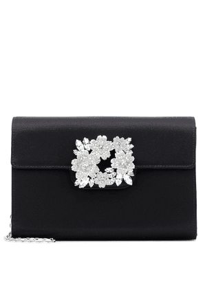 RV Bouquet embellished satin clutch