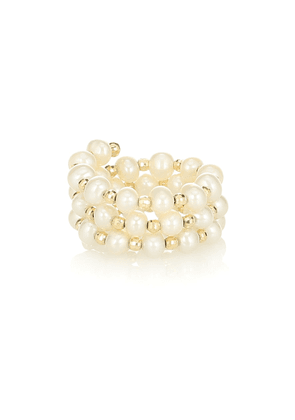 Impromptu 14kt-gold and pearl ring