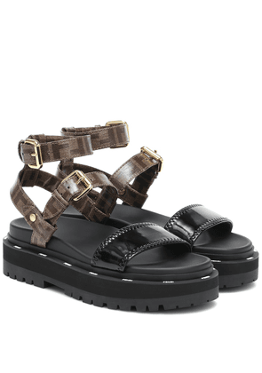 Neoprene and canvas sandals