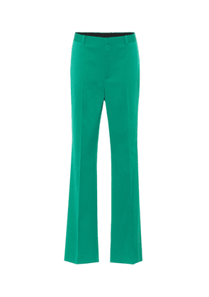 High-rise stretch-wool straight pants