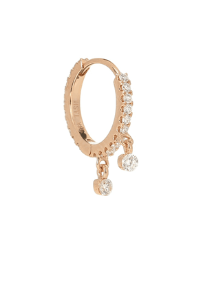 Eternity 18kt gold and diamond earring
