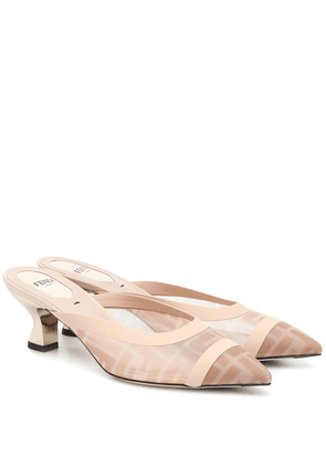 Colibri mesh and leather mules