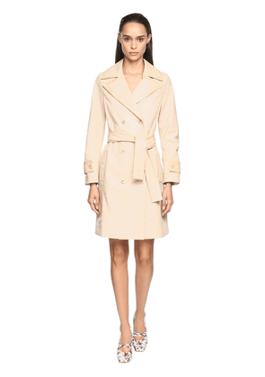 Croc Embossed Leather Trench Coat