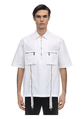 Cotton Poplin Short Sleeve Shirt