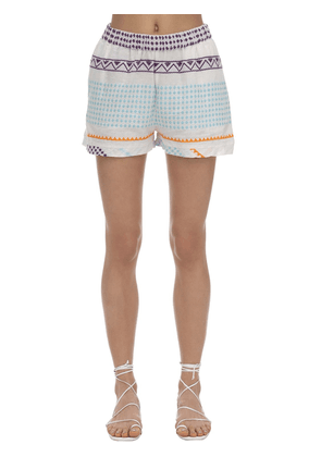Shortis Embroidered Cotton Shorts