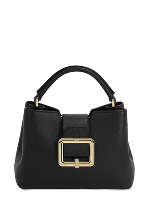 Jorah Grained Leather Top Handle Bag