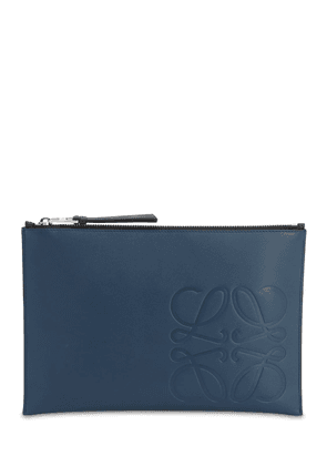Smooth Leather Anagram Pouch