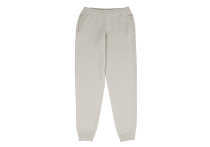 Beige Cashmere Tracksuit Trousers