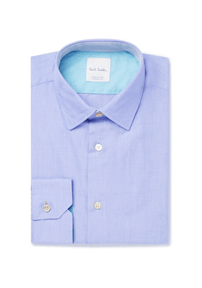 Paul Smith - Blue Soho Slim-fit End-on-end Cotton Shirt - Blue