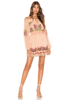 Tularosa Calista Embroidered Dress in Pink. Size L,XS.