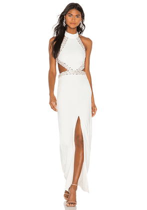 NBD Nicolina Gown in White. Size XS.