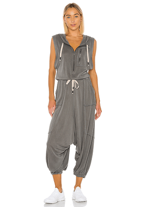 Free People X FP Movement Franklin Hills Jumpsuit in Gray. Size S,XS.