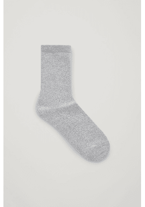 TOWELLING TALL ANKLE SOCKS