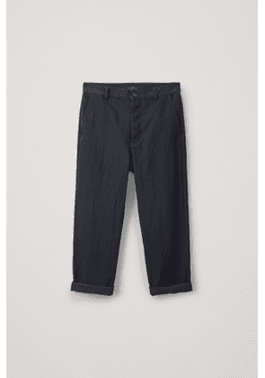 RELAXED BUTTON-UP CHINOS