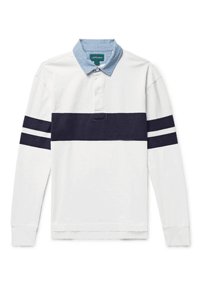 J.Crew - Chambray-trimmed Striped Cotton-jersey Rugby Shirt - White