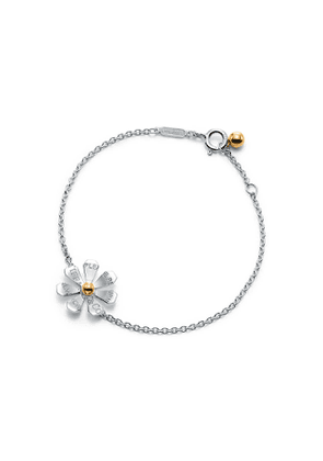 Return to Tiffany™ Love Bugs daisy chain bracelet in sterling silver and 18k gold - Size Medium/Large
