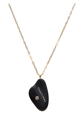 Gold Women's Protect Stone & Diamond Necklace