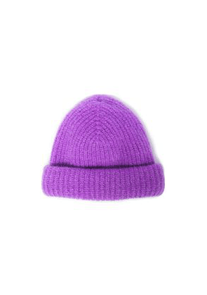 Sandro Mohair-blend Beanie Woman Violet Size ONESIZE