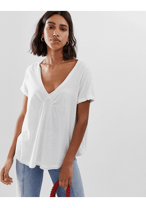 Free People All You Need v-neck t-shirt-White
