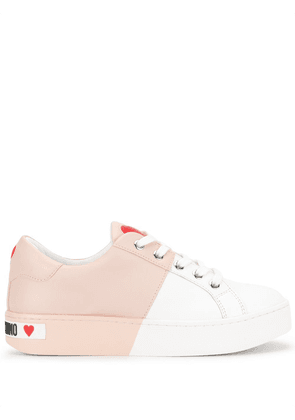 Love Moschino half dipped bi-colour sneakers - PINK