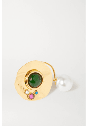 Dries Van Noten - Gold-tone, Crystal And Faux Pearl Ring - Multi