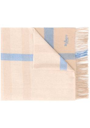 Mulberry checked scarf - NEUTRALS