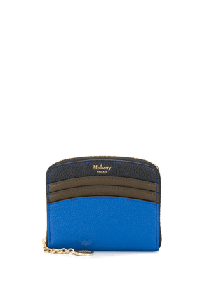 Mulberry curved small zip around wallet - Blue