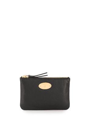 Mulberry logo plaque coin pouch - Black