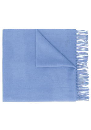 Mulberry solid lambswool scarf - Blue