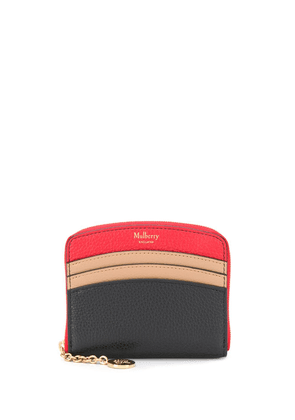 Mulberry curved small zip around wallet - Red