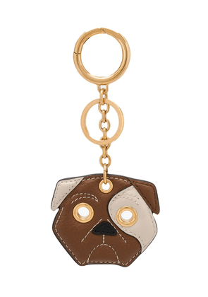 Mulberry small classic grain dog keyring - Brown