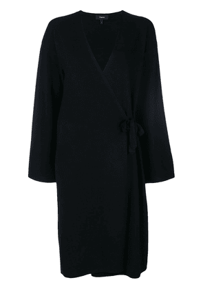 Theory wrap long cardigan - Black
