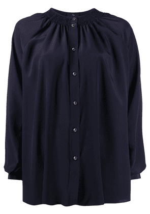 Fay collarless blouse - Blue