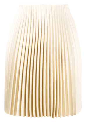 Theory straight fit pleated skirt - NEUTRALS
