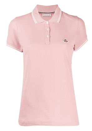 Moncler logo patch polo shirt - PINK