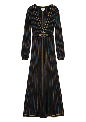 Gucci glitter lamé striped dress - Black