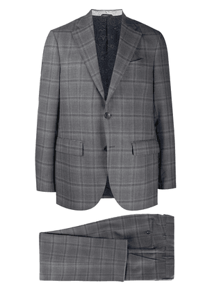 Etro checked two-piece suit - Grey