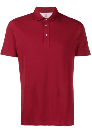 Brunello Cucinelli relaxed fit polo shirt - Red
