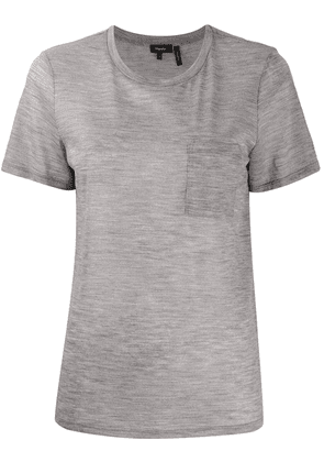 Theory round neck front pocket T-shirt - Grey