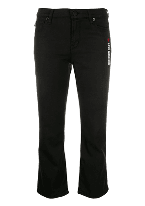 Love Moschino cropped skinny fit jeans - Black