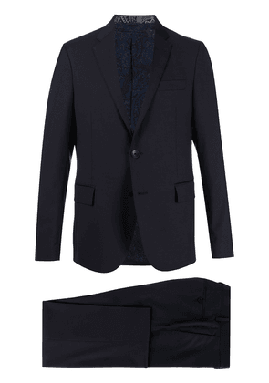 Etro houndstooth-print two-piece suit - Blue