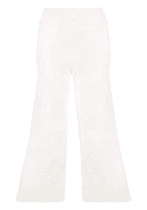P.A.R.O.S.H. cropped flared trousers - White