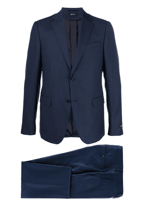 Z Zegna single breasted wool suit - Blue