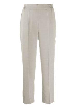 Etro straight leg cropped trousers - Grey