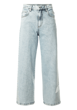 MSGM mid-rise straight jeans - Blue