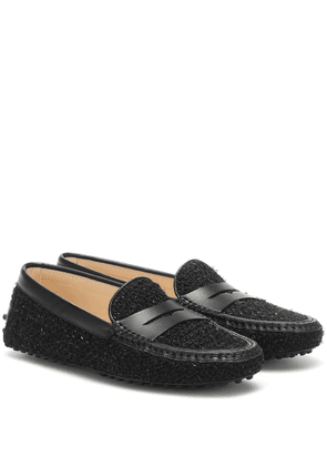Gommino tweed loafers