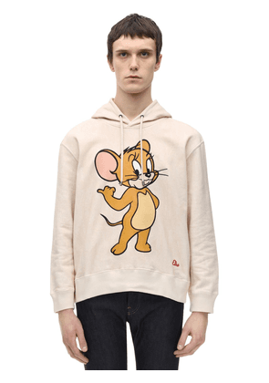 Mouse Print Cotton Jersey Hoodie