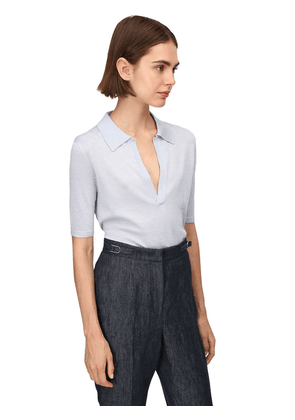 Lvr Sustainable Cashmere Blend Knit Top