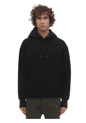 Logo Patch Cotton Jersey Hoodie